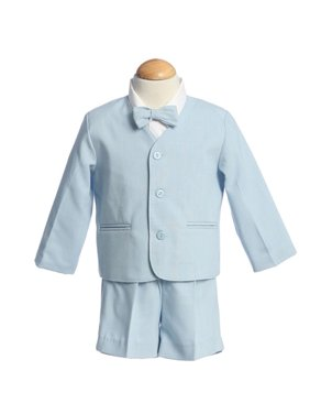 a97493974c4 Product Image Boys Light Blue Eton Short Formal Ring Bearer Easter Suit  12M-4T. Sophias Style