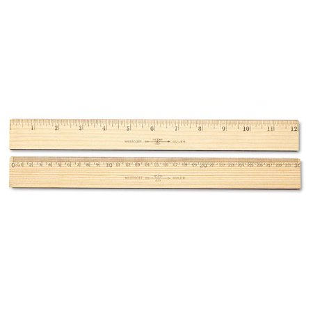 Metric Drawing Scales (ACME UNITED CORPORATION Westcott Wood Ruler, Metric and 1/16'' Scale with Single Metal)