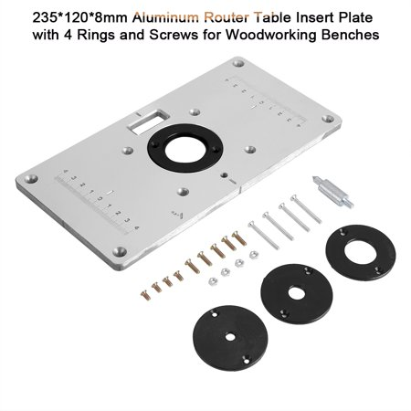 Dilwe 2351208mm aluminum router table insert plate with 4 rings dilwe 2351208mm aluminum router table insert plate with 4 rings and screws keyboard keysfo Gallery