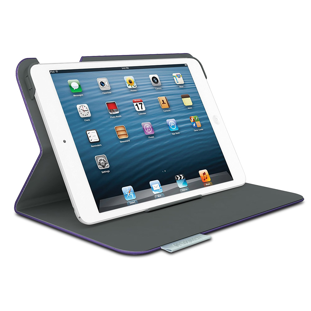 Logitech Ultrathin Keyboard Folio for iPad mini 1/2/3 - Matte Purple, Refurb- XSDP -920-006035 - Stop trying to use the keyboard on your touchscreen and type faster and more comfortably with the