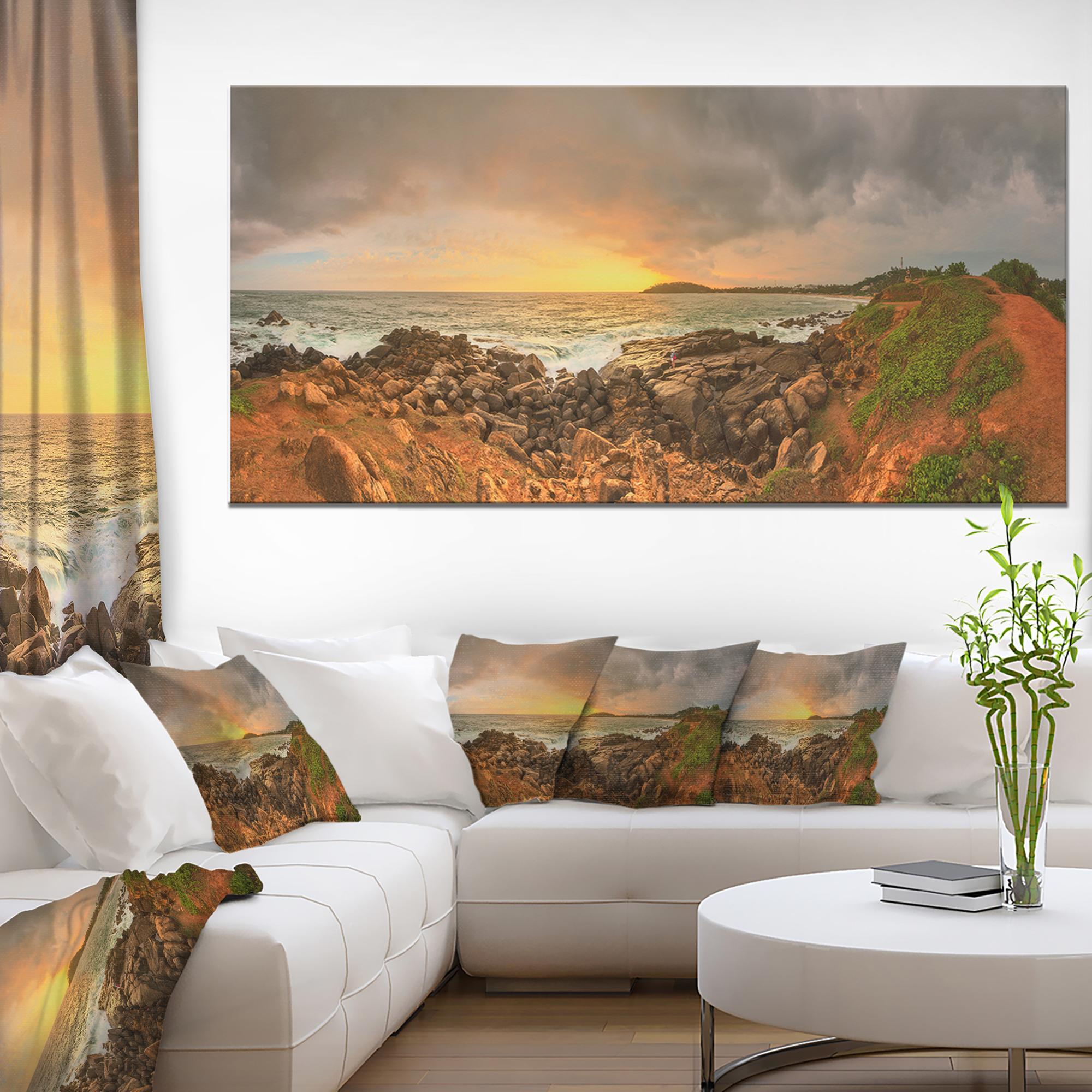 Sunrise at Romantic Beach at Sri Lanka - Landscape Artwork Canvas - image 1 of 3