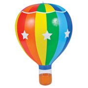 "22"" Striped Inflatable Hot Air Balloon Toy Decoration"