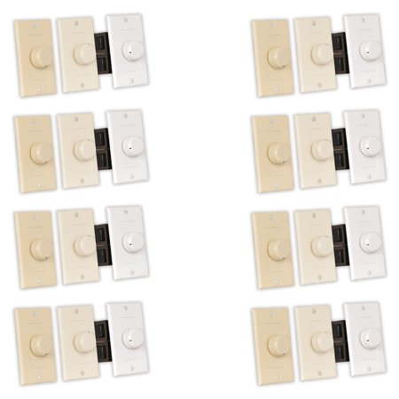 Theater Solutions TSVCD Indoor Speaker Volume Controls 3 Color Dial Audio Switches 8 Piece Pack