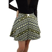 Versace Collection Woven Pleated Mini Skirt, IT 38 (US 4) Yellow