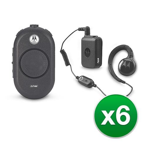 Motorola CLP1060 (6 Pack) Two Way Radio Walkie Talkie by MOTOROLA