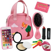 Click N' Play 8 Piece Girls Pretend Play Purse Loaded with Every Day Accessories