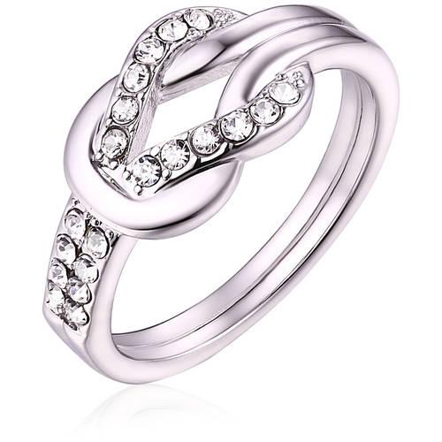 Swarovski Elements 18kt White Gold-Tone Ring