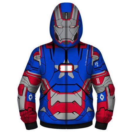 Mad Engine Men's Iron Man Patriot I Am Costume Hoodie
