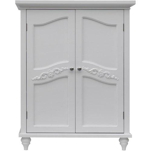 Elegant Home Fashions Somerset Floor Cabinet, White