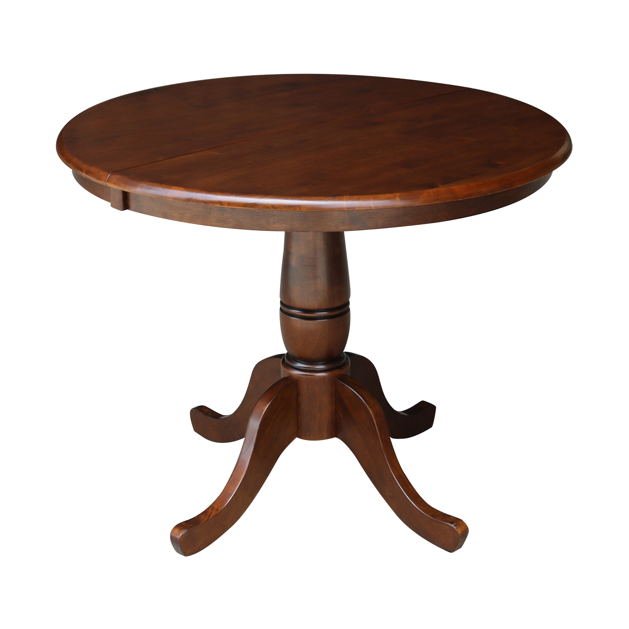 "36"" Round Top Pedestal Table with 12"" Leaf, 28.9""H"