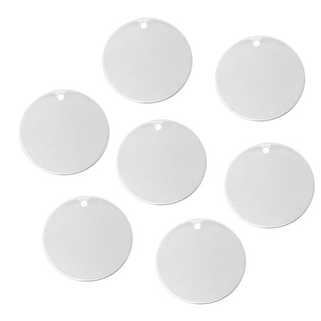 Brass Drop - 15 Silver Plated Brass Alloy Metal Stamping Blanks Round Drop Dia 25mm