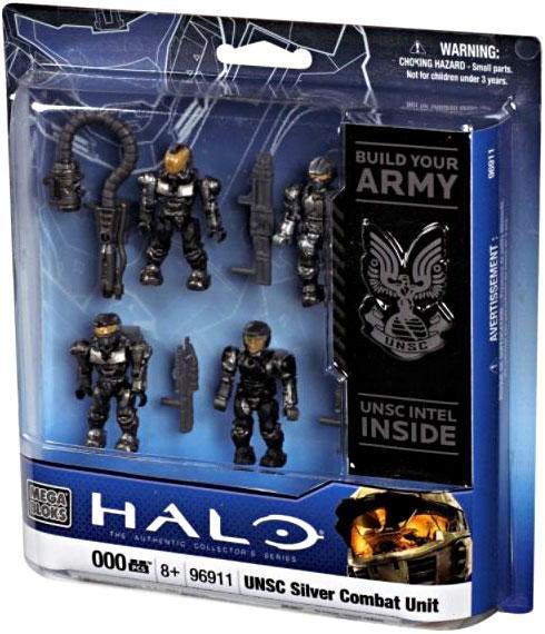 Halo UNSC Silver Combat Unit Set Mega Bloks 96911 by Mega Brands