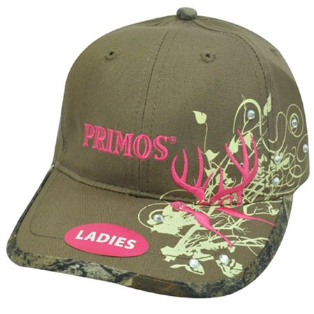 Primos Mesh Cap (Primos Hunting Brand Ladies Womens Diamond Rhinestone Brown Tan Hot Pink Hat Cap )
