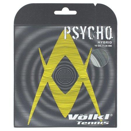 Psycho Hybrid 16G Tennis String Black and Silver