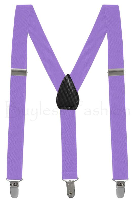Buyless Fashion Kids And Baby Adjustable Elastic Solid Color 1 inch Suspenders - Royal Blue White Stripe - Size 22