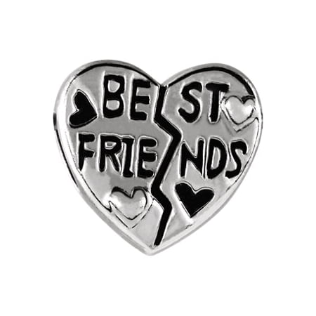 Jewels By Lux Sterling Silver 11mm Best Friend Heart