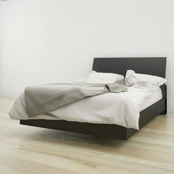 platform bed walmart. Nexera Noir Headboard And Platform Bed Walmart F