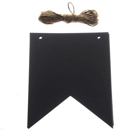 Chalkboard Tags, Pennants Banner, 5-Inch, 12-Piece