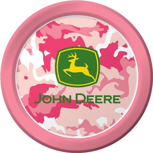 John Deere Pink Camouflage Large Paper Plates (8ct)  sc 1 st  Walmart.com & John Deere Pink Camouflage Large Paper Plates (8ct) - Walmart.com