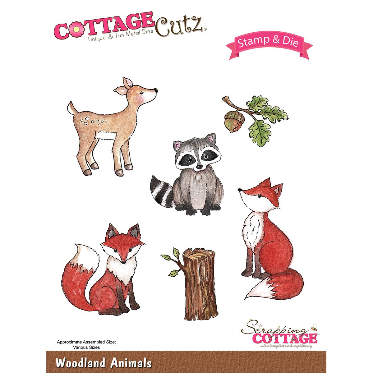 CottageCutz Stamp & Die Set-Woodland Animals
