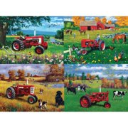 MasterPieces Farmall 4-Pack 500 Piece Puzzle