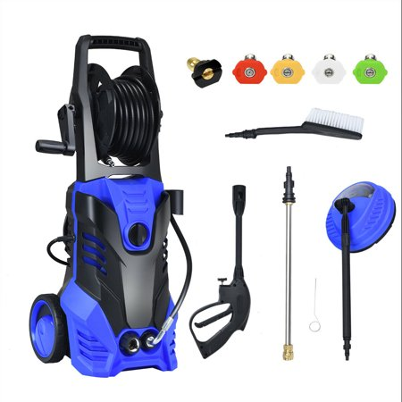 Gymax 3000PSI Electric High Pressure Washer 2000W 2GPM w/Patio Cleaner and 5 (Best Pressure Cleaner For Driveways)