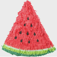 Sparkling Watermelon Slice Party Pinata Red 17.5in x 18.75in