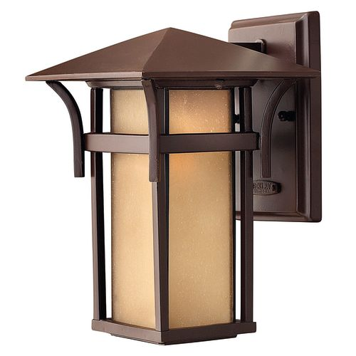 """Hinkley Lighting H2570 10.5"""" Height 1-Light Lantern Outdoor Wall Sconce in Anchor Bronze from the Harbor Collection"""