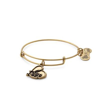 Anne Klein Gold Bangle Bracelet - Gold Flash Love Charm Bangle