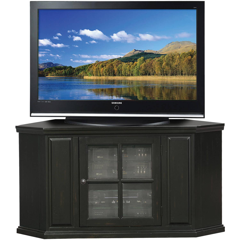 "Leick Home Black Rub 46"" Corner TV Stand"