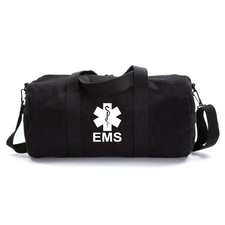 EMS Emergency Medical Services Army Sport Heavyweight Canvas Duffel