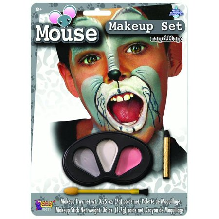 Cute Colors Mouse Halloween Face Paint Animal Child Makeup Kit - Zebra Halloween Face Makeup