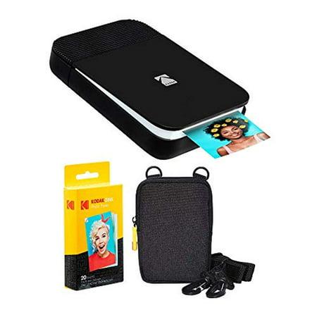 KODAK Smile Instant Digital Printer (Black/White) Soft Case Kit