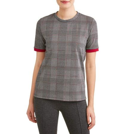 Women's Short Sleeve Menswear Plaid (Tavern Plaid)