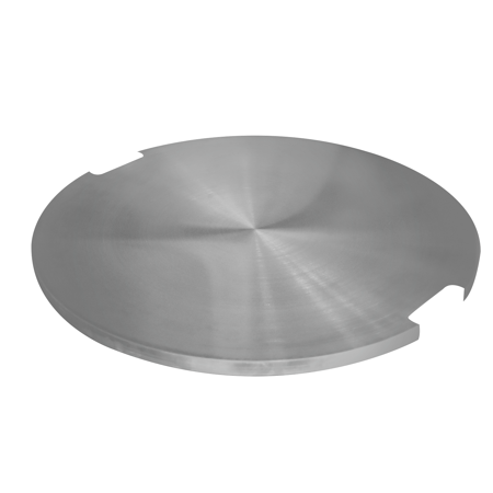Elementi Stainless Steel Outdoor Metropolis Fire Pit Table Cover Durable Round 21 x 21 x 1 inches Grill Fire Ring Lid Firepit Accessory