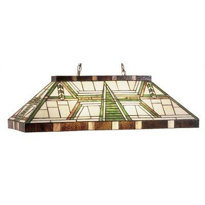 Meyda Tiffany - 47975 - Six Light Oblong Pendant - Dana House - Beige Amber-215pack ()