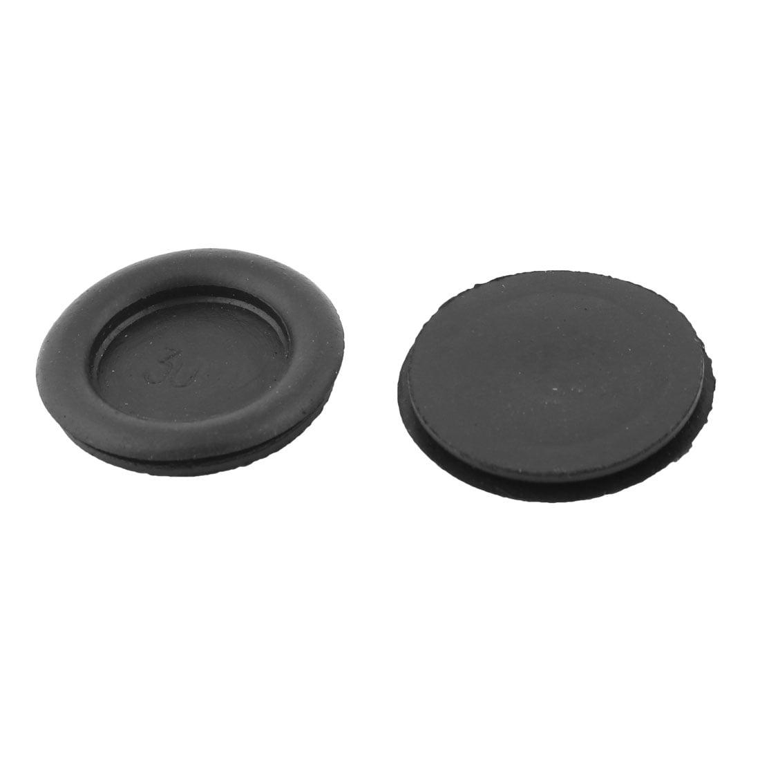 25 mm caoutchouc noir Câblage Open Rondelles Pack De 100
