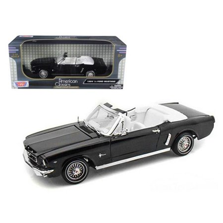 1964 Ford Owners Manual - 1964 1 2 Ford Mustang Black Convertible 1-18 Diecast Model Car