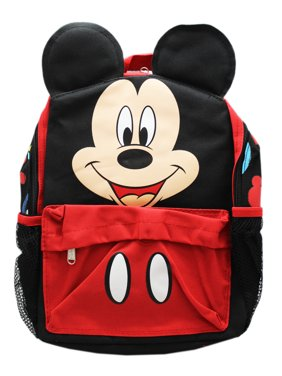 66d4f23f3fc Product Image Disney s Mickey Mouse Face and Pants Stylized Red Black Kids  Backpack (12in)