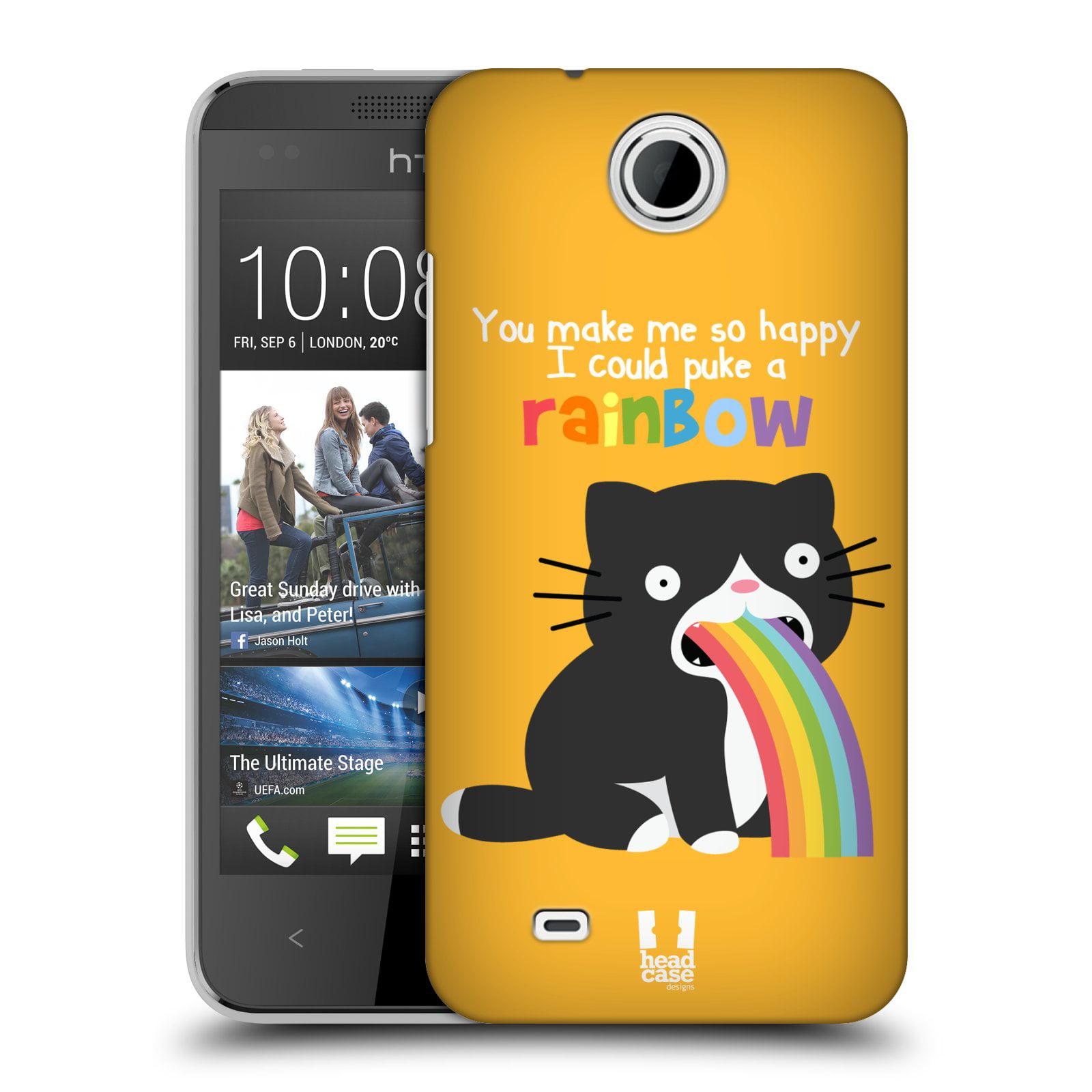 HEAD CASE DESIGNS RAINBOW PUKE HARD BACK CASE FOR HTC PHONES 3