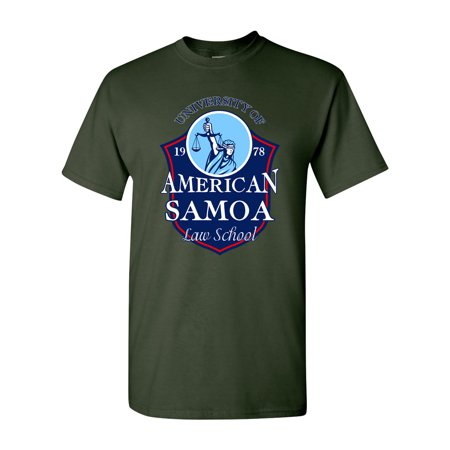 University of American Samoa Law School Funny Parody DT Adult T-Shirt Tee University Pink Shirt