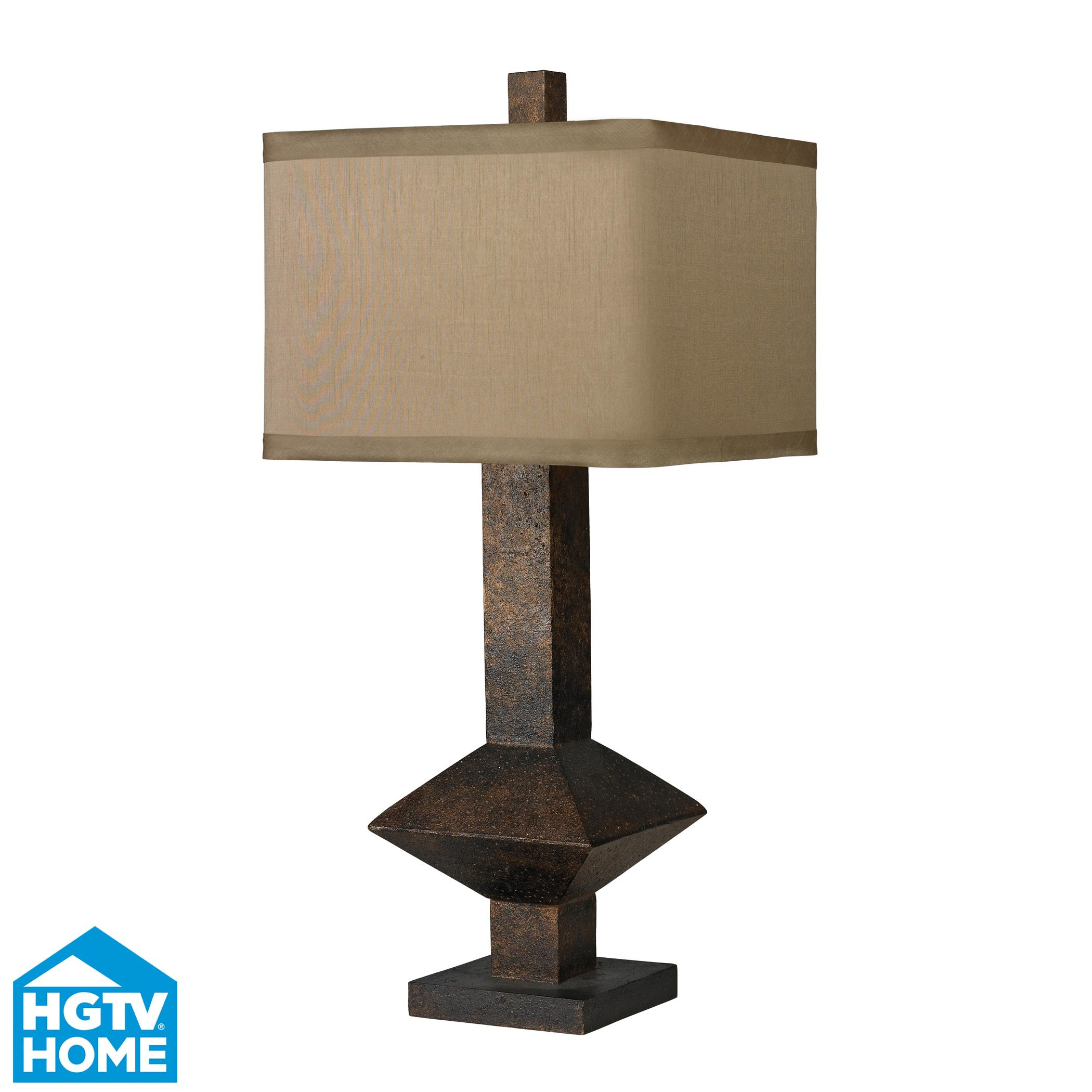 Bronze Mid-Century Inspired Table Lamp