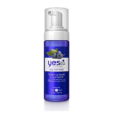 Yes To Blueberries Age Refresh Foaming Facial Cleanser, 5 Oz + Facial Hair Remover Spring