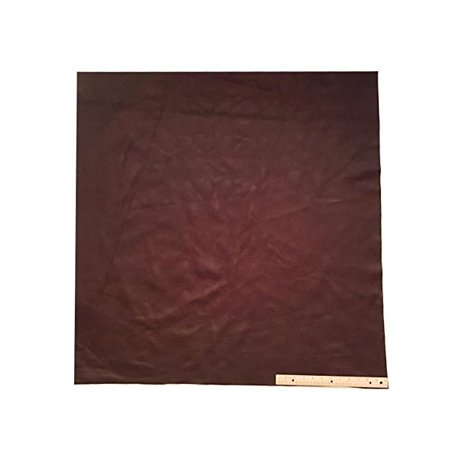 Upholstery Leather Piece Cowhide Dark Brown Light Weight 36 X 36 Inches, 9 Square