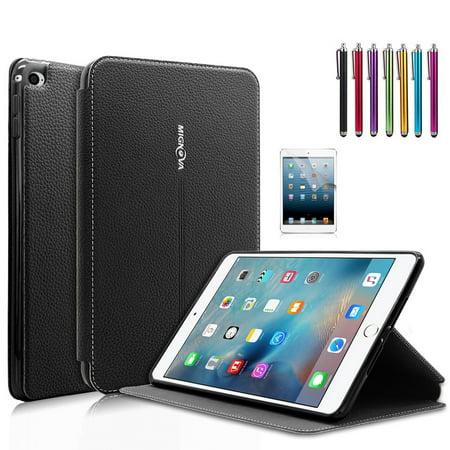 Mignova iPad Mini 4 Case - Ultra Slim Lightweight Smart Stand Cover Case With Auto Wake / Sleep for Apple iPad Mini 4 (2015 edition) 7.9 inch Tablet (Black)