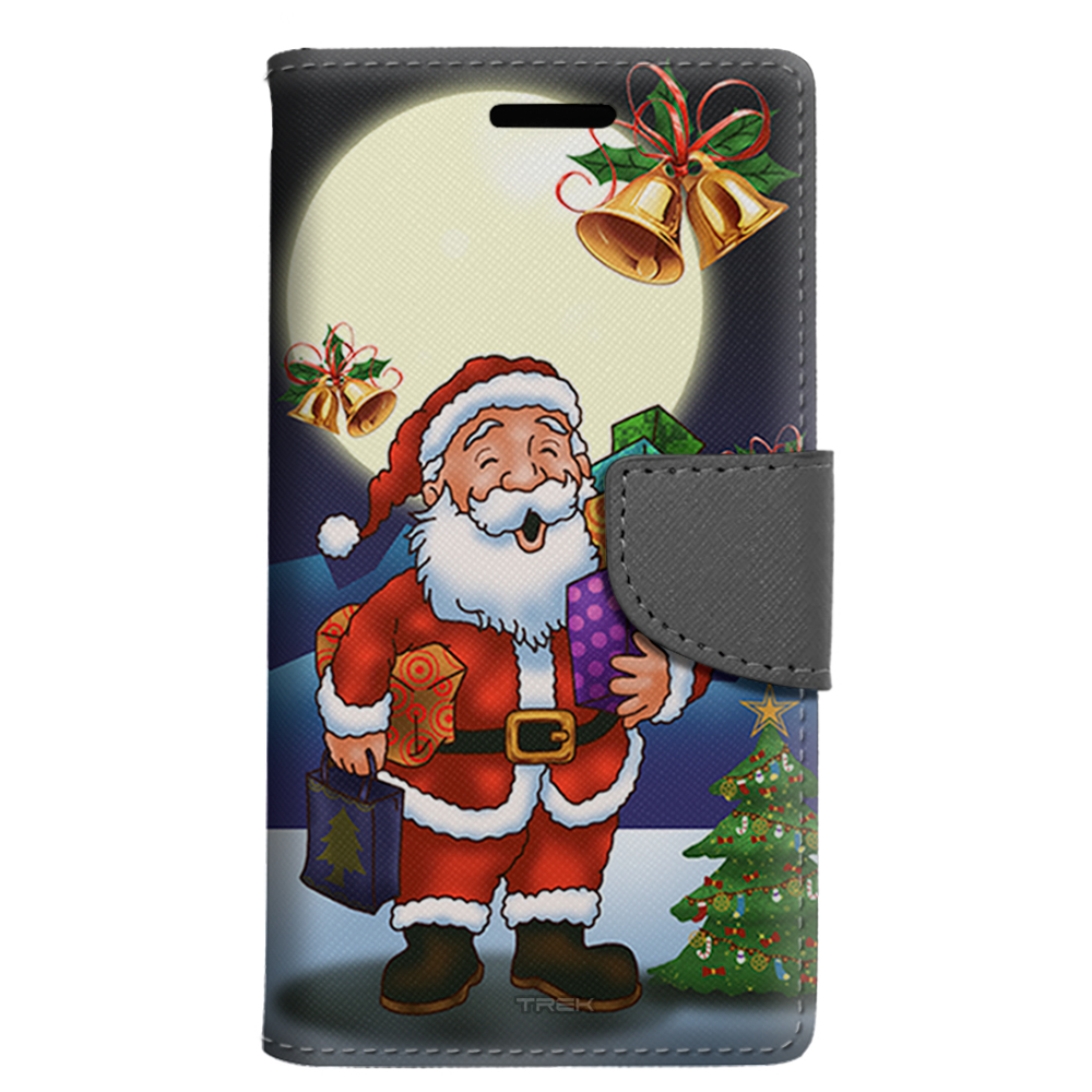 LG G Vista 2 Wallet Case - Merry Christmas Santa in Moon Light Case