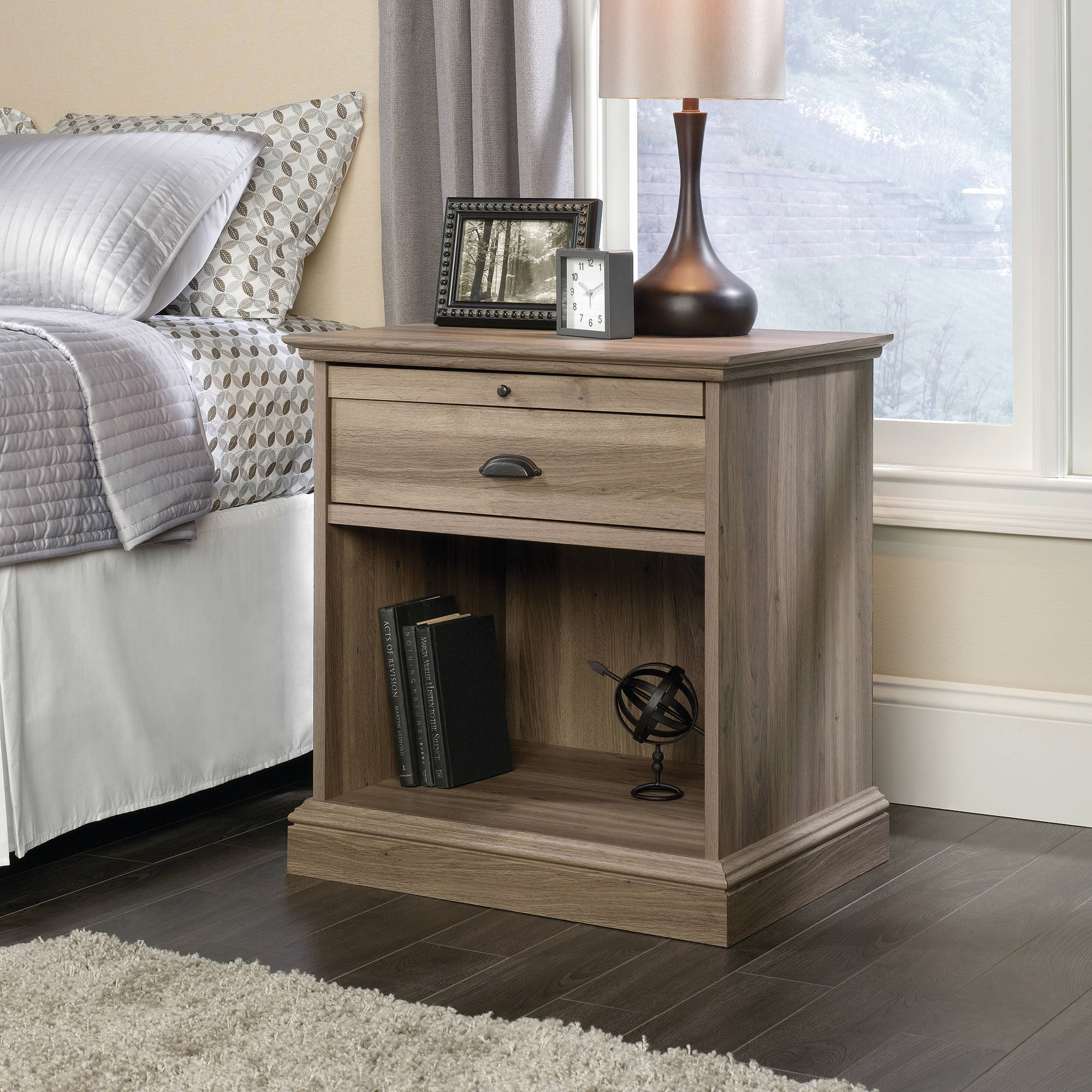 Sauder Barrister Lane Night Stand, Salt Oak Finish by Sauder Woodworking
