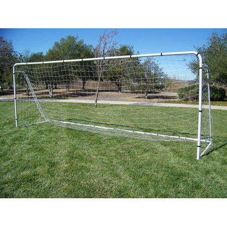 Heavy Duty Steel Soccer Goal - PASS 18 x 7 x 5 Ft. Official Size. Heavy Duty Steel Soccer Goal w/ Net. Regulation League Size Goals. Professional Portable Practice Training Aid. 18 x 7, 18x7 Soccer Goal