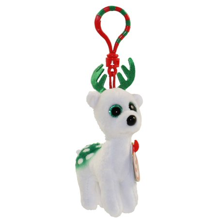 TY Holiday Baby - PEPPERMINT the Reindeer (2017) (key clip - 3.5 inch) - Ty Keychains