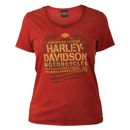Harley Davidson Women 39 S Embellished Eagle Stars Short